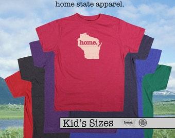 Wisconsin home tshirt KIDS sizes The Original home tshirt