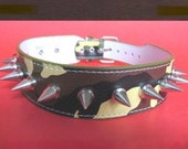 Choker Collar Camouflage Leather Choker & Silver Spikes 02