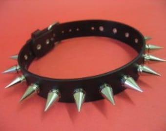 Choker Collar Silver Metal Spike Choker 18