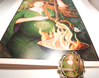 Brighid cameo Pendant WITH GREETING CARD