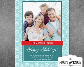 Holiday Card with Photo - Printable