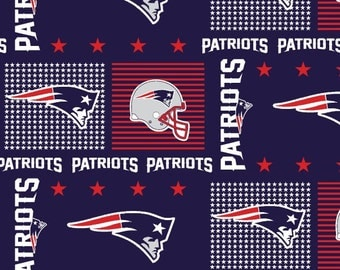 NEW ENGLAND Patriots NFL Cotton Fabric By The Yard Sports Team Football 100% Cotton New