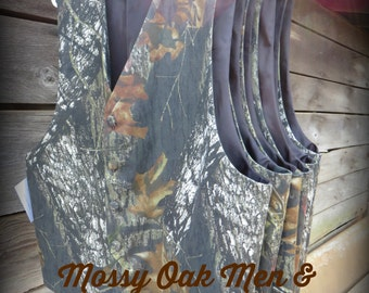 Mens Mossy Oak Camo Vest from Keepers at Home