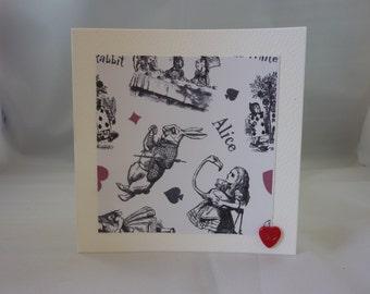 5 x Alice in Wonderland Greetings Cards