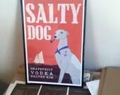 Framed Salty Dog Print for Bisou002
