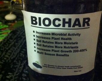 BIOCHAR 20 oz mason jar Home Gardening Soil Amendment