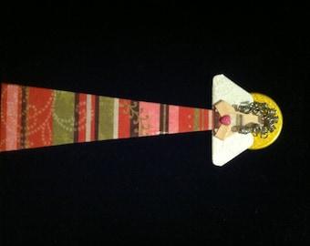 Mixed media angel bookmark # 14.