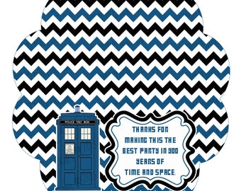 INSTANT DOWNLOAD- Dr. Who Party Treat Bag Toppers
