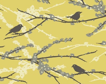 One yard- Joel Dewberry-Aviary 2 collection-JD41 Sparrows Vintage Yellow