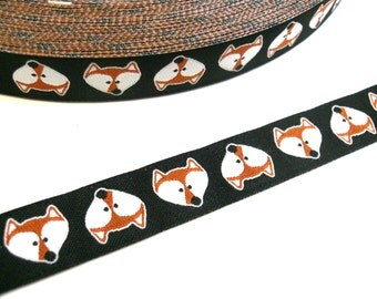 "1 m Woven Ribbon Farbenmix  ""Mister Fox""  16 mm Design Cherry Picking"