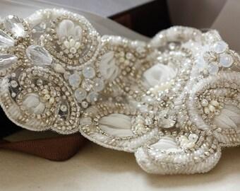 Vintage inspired bridal sash- S54 (Made to Order)