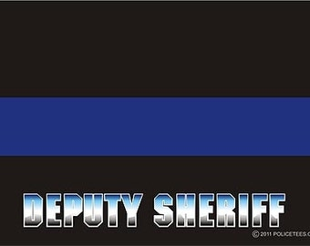 Thin Blue Line Deputy Sheriff Decal SKU: D1035-0003