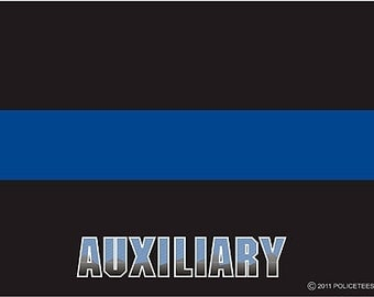 Thin Blue Line AUXILIARY Decal SKU: D1051-0001