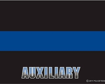 Thin Blue Line AUXILIARY Decal SKU: D1051-0002