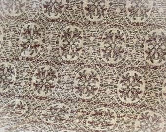 Woven Wool Hallway Runner Rug~Floral~Red~Brown~Tan~Carpet
