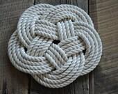 Cotton Rope Trivet - Nautical Decor - Rope Hot Pad - Cotton Rope - Nautical Gift
