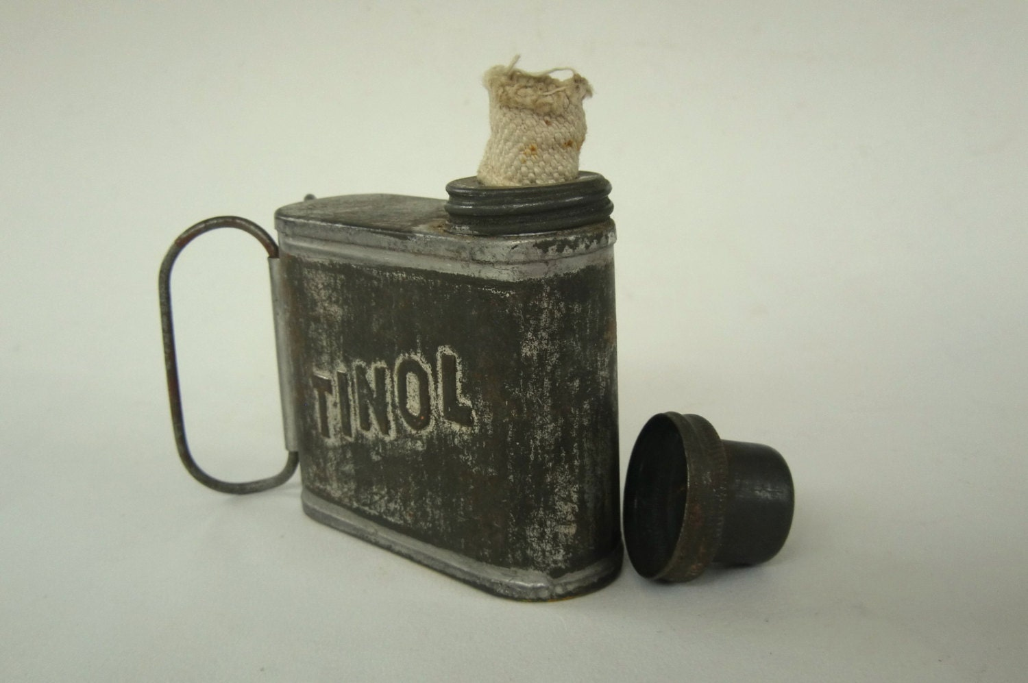 Vintage Tinol Oil Lamp Ww2 German Can Burner Travelling Oil
