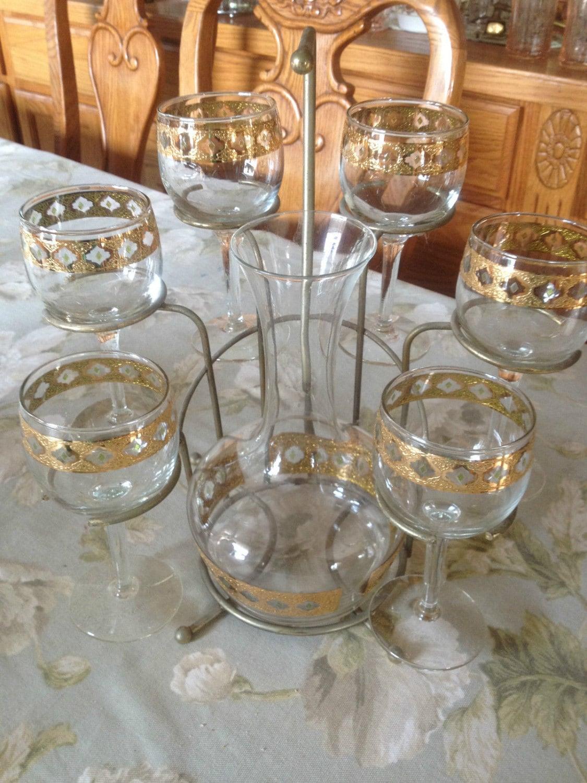 Gorgeous vintage culver glass 8 pc set in the valencia - Vintage valencia ...