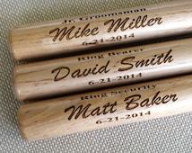 Personalized Mini Baseball Bat - ring bearer gift, groomsman gift, baby gift - Engraved - Customized - Monogrammed for Free