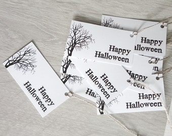 Halloween gift tags printable halloween gift tags Spooky tree instant download