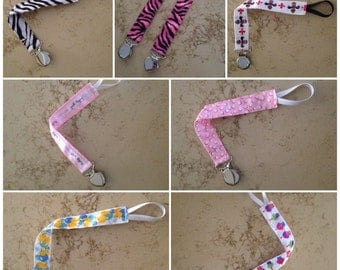 Girls Fashionable Pacifier/Toy Clips
