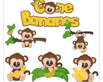 DIGITAL SCRAPBOOKING CLIPART - Gone Bananas
