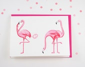 Pink flamingo Birthday card, farting flamingo, stinky pink fart card