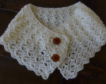 Crocheted Neck Cowl Accessory