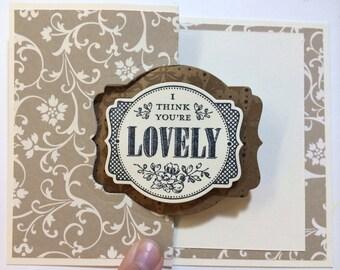 Flip card Lovely