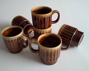 6 Vintage coffee mugs, Japan.