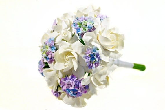 Handcrafted Clay Flowers - Whimsical Gardenias
