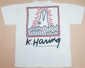 Vintage 1990 KEITH HARING Pop Art T-shirt