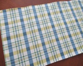 Blue and Yellow TABLE RUNNER, trendy graphic country print