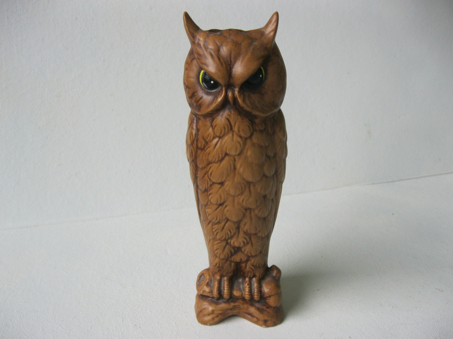 Vintage Tall and Slim Owl Vase or Home Decor