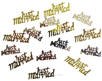 Just Married Table Scatters 25grams wedding decorations, FREE POSTAGE Australia Wide