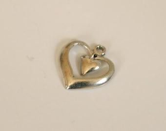 SALE!!!  Vintage Sterling Silver Heart Pendant