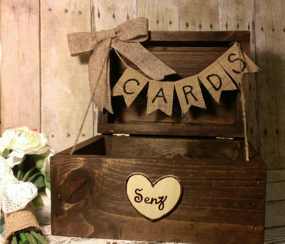 Fall Wedding Card Holder Ideas: Rustic Wedding Card Box Fall Wedding Card Box Country By