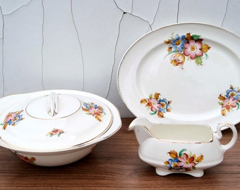 Vintage Ridgway Portland Pottery Cobridge Lawley Serving set