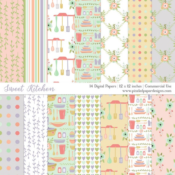 Kitchen Digital Paper - Sweet