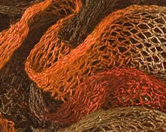 Katia Ondas Ruffle Scarf Yarn Color # 98 - Orange/Brown. Great Buy!!  Regular price is 12.00.