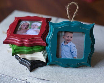 Wood Ornament Frames, Picture Frame Ornament
