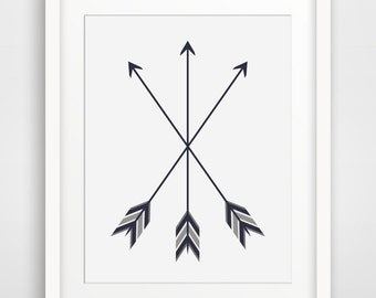 Arrow Art Arrow Artwork Black And White Feather Arrow