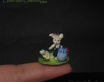 Miniature Bunny easter bunny miniature rabbit dollhouse rabbit miniature Easter rabbit Easter Egg small rabbit little rabbit tiny bunny