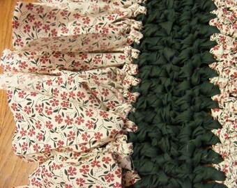 Crocheted Rag Rug, Rag Rug, Cloth Rug, Hand Made Rug, Crochet Cotton Rug
