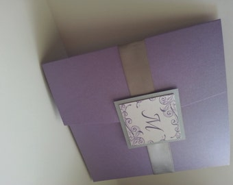 Purple and Gray Invitation