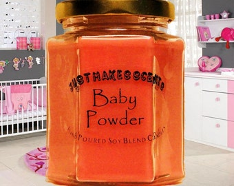Baby Powder Scented Candle (Free Shipping on Orders of 6 or More) - Blended Soy Candle - Baby Scent - Scented Soy Candle