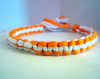 Bright Colored Orange and White Bracelet