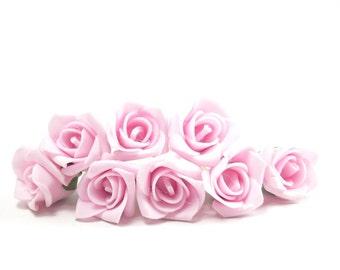 Bridal Hair Accessories, Pink Rose, Pink  flower Hair Bobby Pin, Brass Bobby pin- set 8