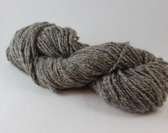 Jacob Handspun Yarn, Grey, Organic yarn, Wool Yarn, Worsted Weight Yarn, 2ply, natural color, Undyed