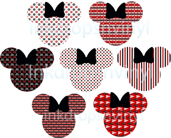 ... : Mickey Head Clip Art , Mickey Ears Clip Art , Minnie Bow Clip Art